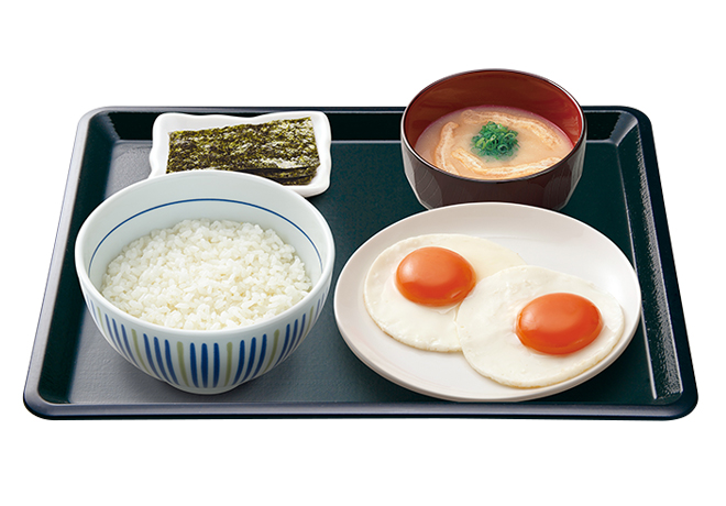 image of Breakfast Set with 2 Sunny-Side-Up Eggs