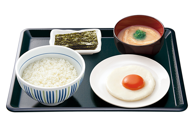 image of Breakfast Set with Sunny-Side-Up Egg
